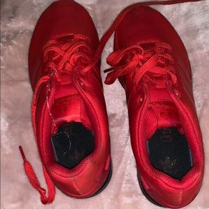 Adidas sneakers in red